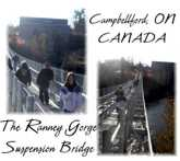The Ranney Gorge Suspension Bridge in Campbellford