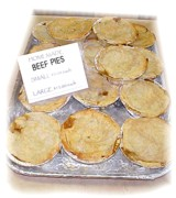 Trent Hills Famous Meat Pies made with Black Angus beef!