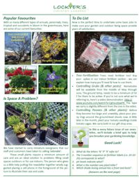 Spring Newsletter May 2013