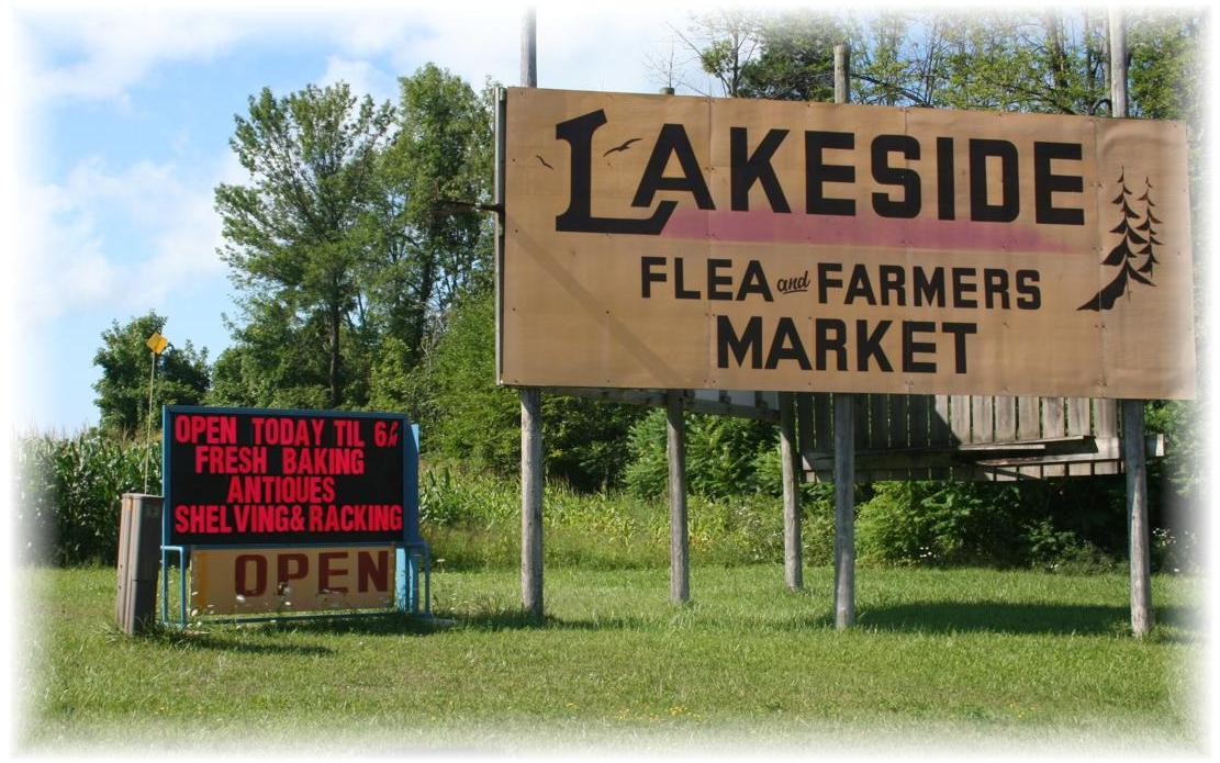 Our lakeside Flea Market just north of Goderich ON