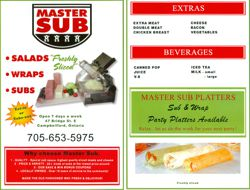 Our Menu posted October 19, 2011