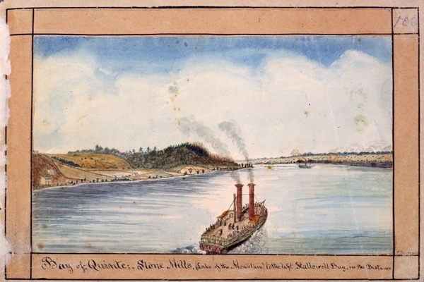 This watercolour by Thomas Burrowes shows what boating Ontario's #BayOfQuinte looked like in 1830 @archivesontario
