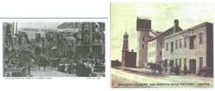 Inauguration of the Town of Campbellford, July 2, 1906 & Dickson Foundry and Weston Shoe Factory 1902