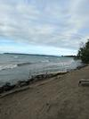 Sandy beach fronting Lake Ontario