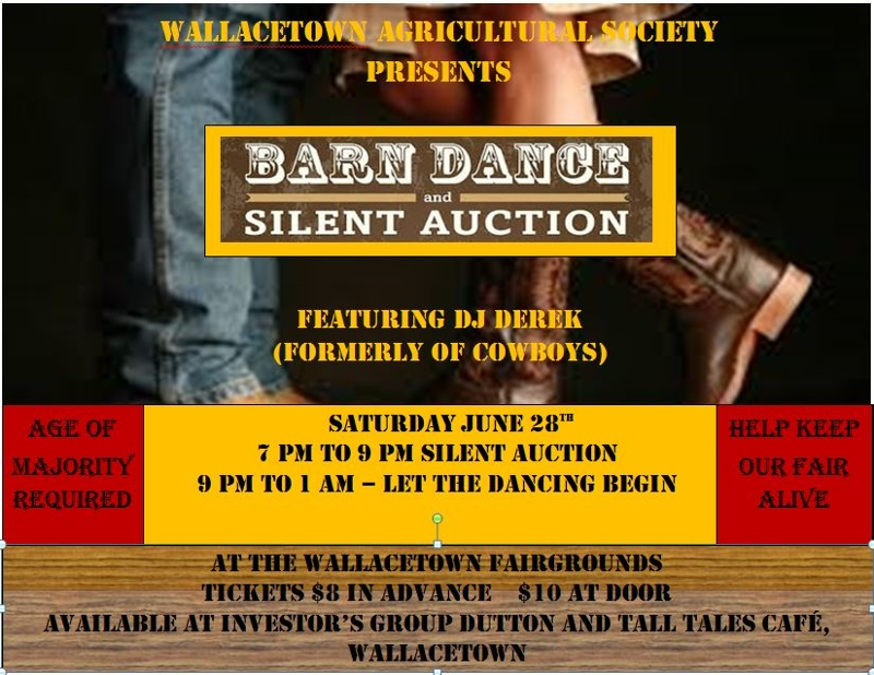 Barn Dance - June 28th at the Fairgrounds