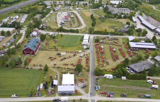 Aerial view of Country Heritage Park/All Colours Show