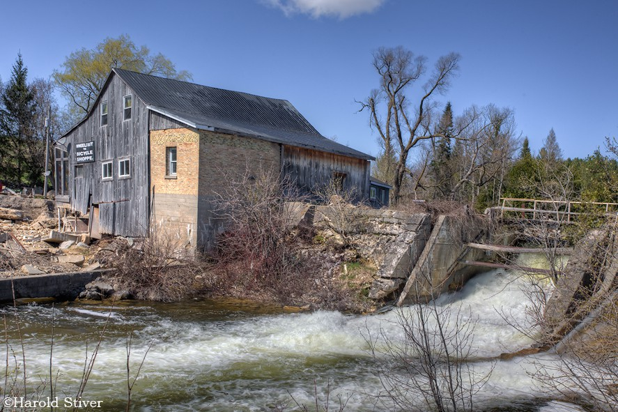 Scone Mill Built in the village of Scone in 1856 along the Rocky Saugeen River and operated as a gristmill. It was suffered severe damage in a flood in 2010.